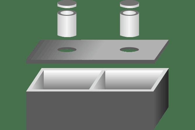 zbiorniki dwukomorowe szamba betonowe